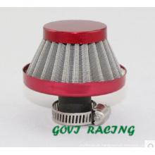 Filtro de ar vermelho de 12mm com aço inoxidável para tubo de entrada de ar desportivo Trubo Sport