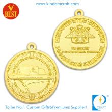 China Cheap liga de zinco de profissão 3D ambos lado medalha de lembrança de chapeamento de ouro com logotipo personalizado