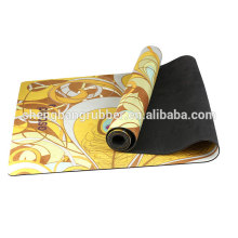 hot sale custom printed natural rubber yoga mat softextile microfiber yoga mat nbr