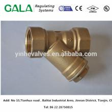 Matière de moulage de métaux OEM de qualité supérieure Y Type de corps de filtre avec extrémités à bride pour gaz