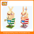 plastic rabit building block toy,mini action figure for children