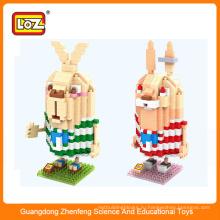 Игрушка из пластика rabit building block, мини-фигурка для детей