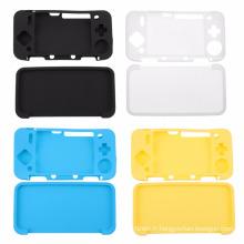 Pleine caisse de couverture de peau de silicone de corps pour Nintendo nouveau 2DS XL 2DS LL console de jeu Soft Game accessoires étui de protection