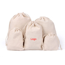 Wholesale cheap price printed logo new design recyclable Eco-friendly organic cotton muslin drawstring bags