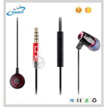 2016 Headpiece novo do auricular do fone de ouvido do metal da Em-Orelha da alta qualidade com Mic & controlador