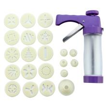 Aço inoxidável ABS Cookie Stamp Gun set