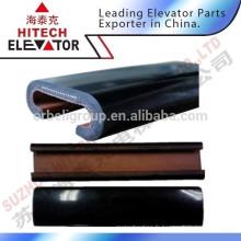 Courroie de main courante d'escalier / caoutchouc en couleur noire