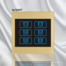 2 Gangs Vorhang Schalter Acryl Rahmen Rahmen (CT100-AC2)
