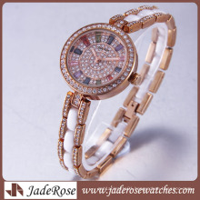 Fashion Exquisite Diamond Women′s Watch. High Quality Stainless Steel Watch