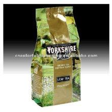 Saco de empacotamento lateral do chá do reforço / saco plástico das folhas de chá da folha de alumínio