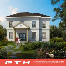 China Prefabricated Light Steel Villa House as Luxury Living Home