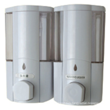 Высокое качество 400мл * 2 Белый жидкий пластик настенный дозатор мыла