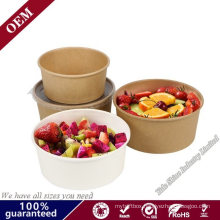 Paper Take out Containers Soup Cups with Paper Lid PE Lid