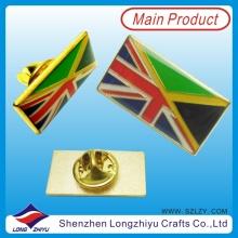 Esmalte chapado en oro británico Epoxy Pin Badge