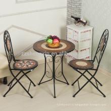 Salon de jardin professionnel jardin table en mosaïque
