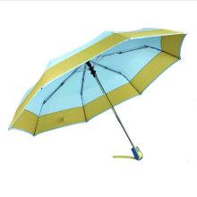 Border&Edged Solid Fold Open&Close Umbrellas (YS-3FD22083967R)
