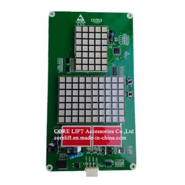 Exibir a placa CD353 indicador série policial & Hop matricial elevador peça sobresselente