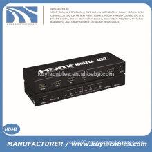 New HDMI V1.4a HDMI Matrix 4X2 (4 to 2) Switch Switcher Splitter Amplifier 3D,4kX2k, 48bite deep color