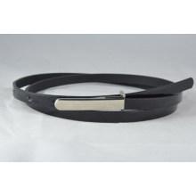 ladies shinny thin PU belt for dressing