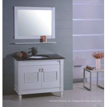 Muebles de baño de madera superior de mármol (B-314)