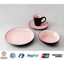 Crackle Glaze Dinnerware 16pc Stoneware Dinnerware Set