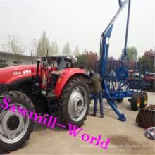 Electric Log Trailer with Crane for Tractor