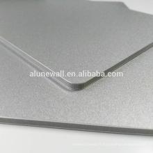 Ignifuge 2-15mm métal argent aluminium composite panneau vente chaude acp