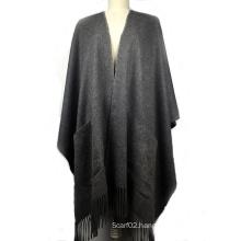 100%Cashmere Poncho Ladies Fashion Shawl