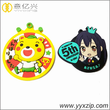 Cartoon Custom 3D Soft Silicon Rubber Keychains