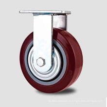 H1 Tipo pesado Tipo Rolamento de esfera duplo Vermelho PU Tipo fixo Caster
