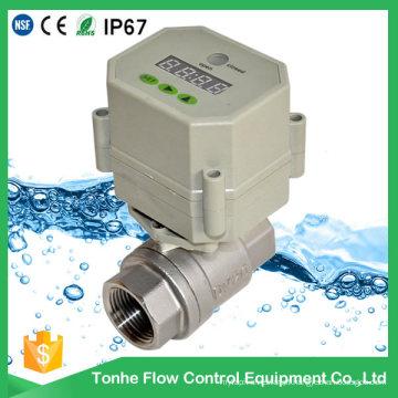Válvula de água de controle de aço inoxidável com válvula de esfera de drenagem do temporizador
