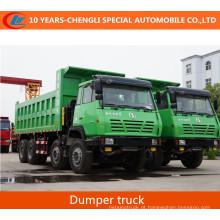 Caminhão basculante do caminhão de Shacman 8 * 4 Tiiper com ar-defletor