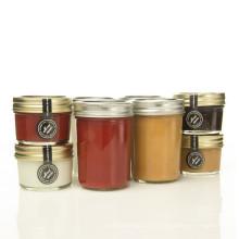 Wholesales 100ml / 250ml Pequena capacidade de vidro de armazenamento de alimentos Jar Jar de vidro Jar com tampa de metal