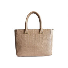 2016 large contrast croco leather tote bag for women