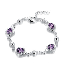 2017 Crystal Bracelet Pupple Zircon Women Bracelet
