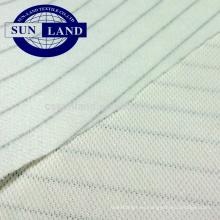 Tejido de malla de piqué doble antiestático 100% poliéster para ropa de trabajo