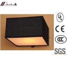 Guzhen Hotel Decorative Black Fabric Shade Square Wall Light