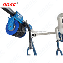 AA4C car exhaust extracting system auto vehicle exhaust manual sliding tumbler hose reel  control manually