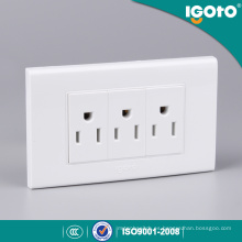Igoto American Receptacle Receptáculo Eléctrico 3 Pin Wall Socket