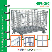 steel mesh foldable security container for supermarkets