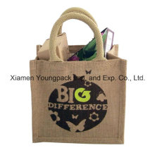 Promotional Small Reusable Jute Grocery Shopper Tote Bag