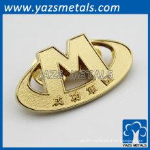 Placa de oro de las insignias del alfabeto de encargo
