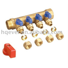 Manifolds with 4 way male outlets with ball valve