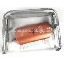 гибкий ясности TPU молнии косметический мешок макияж мешок