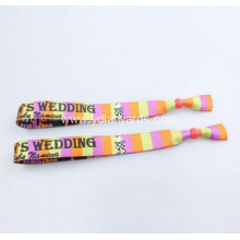 Woven Custom Fabric Wristband With Clip