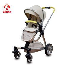 Baby Stroller with Frame and Hot Pressing