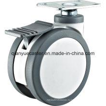3 -5 дюймовый пластиковый поворотный медицинский близнецы колеса больницы тележки колесо колес