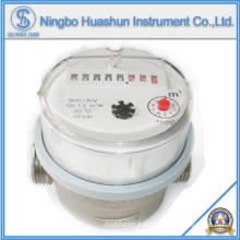 Single Jet Dry Type Water Meter with 80mm Length Brass Body