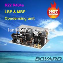 Kommerzieller Kühlschrank Ersatzteilträger hvac Punkt Kühlaggregat mit R404A horizontalen Kältekompressor