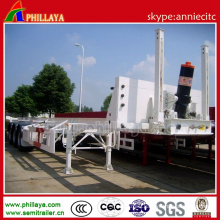 3 Axles 60 Ton Payload Capacity Semi Container Dump Trailer